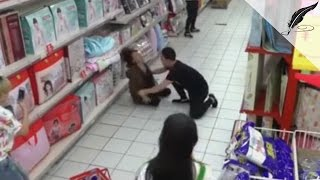 'Possessed' Woman in Chinese Supermarket Calmed Down By Exorcism, Caught on CCTV   Real or Fake?