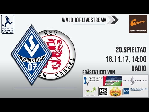 20.Spieltag: SV Waldhof - Hessen Kassel (Radio)