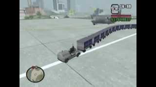 【GTA SA】トーイングカーを繋ぎまくって遊んでみた