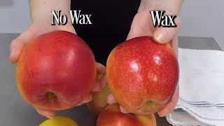 How To Clean Wax Off Apples