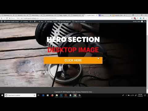 How To Set Different Background Images For Desktop Tablet And Mobile In Elementor Using CSS 2018