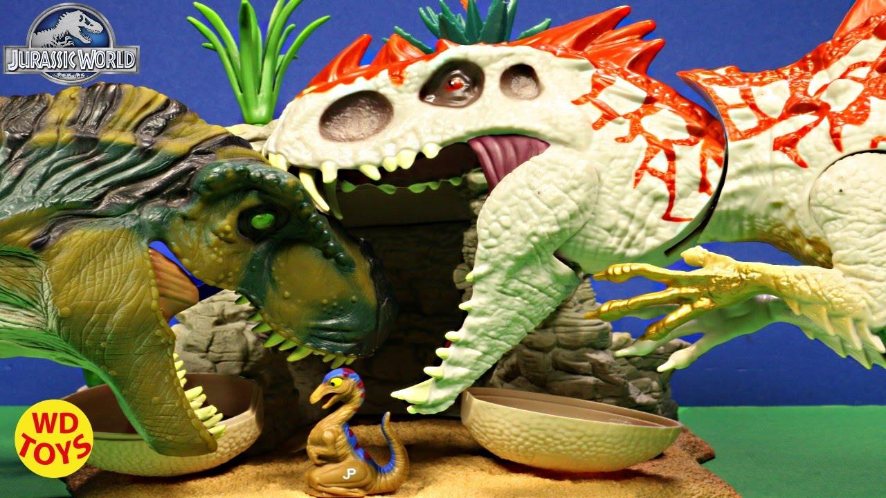 New Jurassic World Hybrid Rampage INDOMINUS REX Vs T-Rex Jurassic Park  UNBOXING - WD Toys