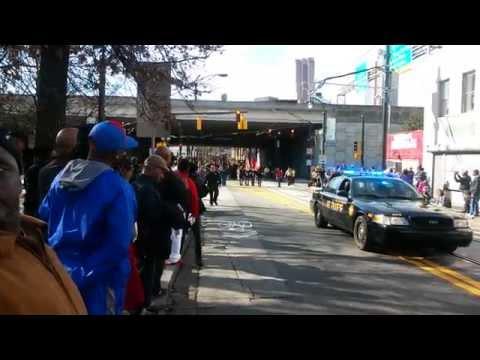 MLK day parade Auburn Ave, Atlanta, GA.  January 19, 2015