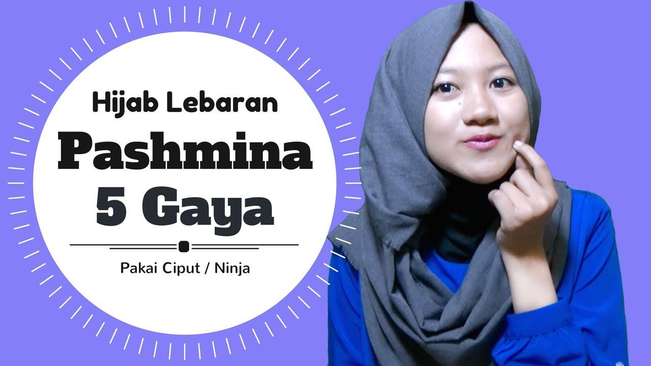 Tutorial Hijab Pashmina Untuk Lebaran 5 Gaya Termudah Nmy Hijab Tutorials Youtube