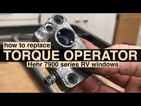 Torque Operator Repaired in Hehr RV Window