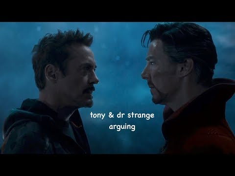 tony and dr strange arguing for 2 minutes straight