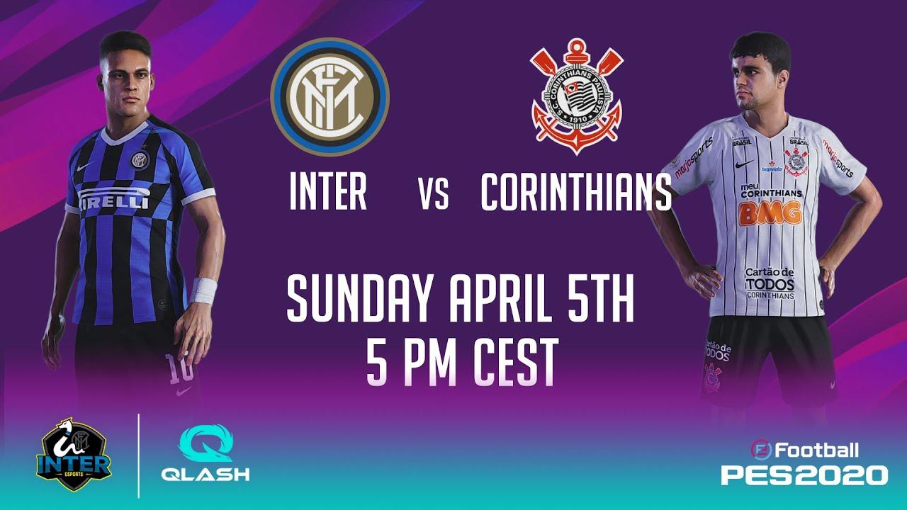 INTER vs CORINTHIANS on PES 2020 with INTER | QLASH (feat. INSA + KIRITO_YUUKI_00 + FMESTRE12) 🎮⚫🔵