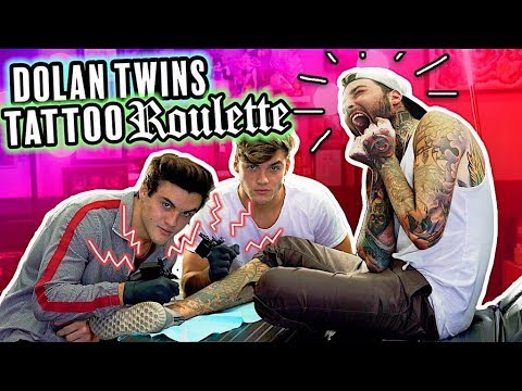 Dolan Twins - TATTOO ROULETTE!! (drawing contest, giving first tattoo + SURPRISE!)