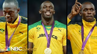 Usain Bolt's Triple-Triple: The Ultimate Gold Medal Compilation   NBC Sports