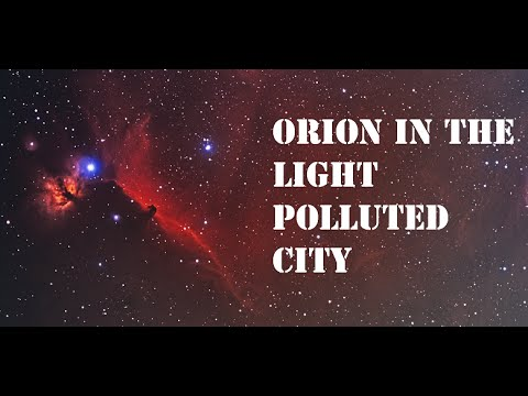 Orion Nebula in the light polluted city