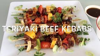 Teriyaki Beef Kebabs Cheekyricho