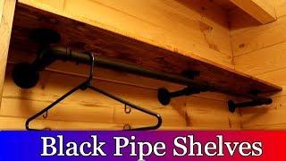 Black Pipe Shelves