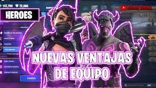 "Fortnite Save the World 20 New Team Advantages ""Heroes"""