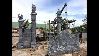 Lắp đặt Mẫu cổng đá đẹp Cổng tam quan đẹp tại Nghệ An