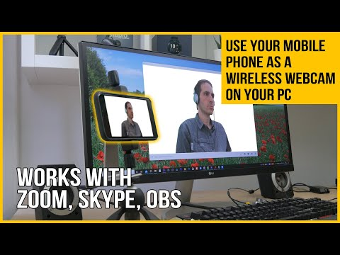 Use Your Phone As A Webcam In Zoom (or Anything Else) On A PC
