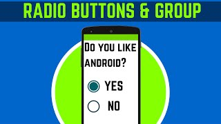 27.  HOW TO USE RADIO BUTTONS & GROUP IN ANDROID STUDIO | ANDROID APP DEVELOPMENT