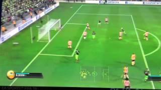 Longest free kick scored in Fifa 16