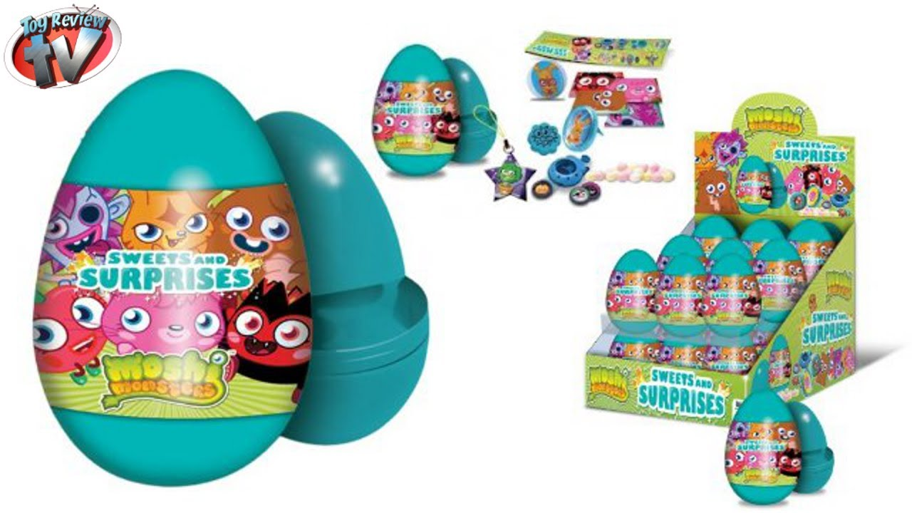 Moshi Monsters Sweets Amp Suprises Mystery Eggs Toy Review