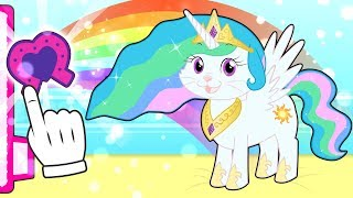 BABY PETS 💥 Kira se disfraza de Princesa Celestia de My Little Pony | Dibujos animados infantiles