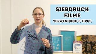 Siebdruckfilme - Verwendung & Tipps
