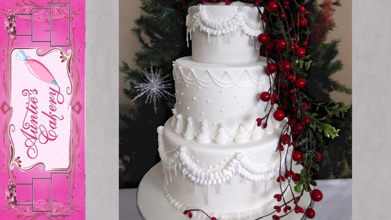 winter wedding cakes winter wedding cake 27557
