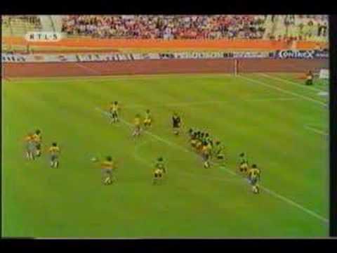 1974 World cup brasile-zaire punizione comica