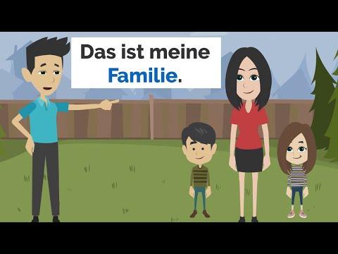 Deutsch lernen | Meine Familie | sich vorstellen B1 Prüfung