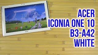 Розпакування Acer Iconia One 10 B3-A42 White