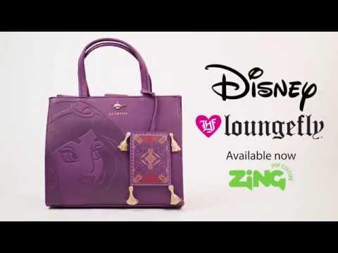Disney - Aladdin - Jasmine Purple Loungefly Handbag - Video
