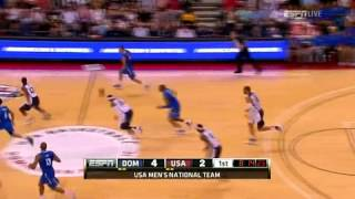 Anthony's Big Dunk to Start Dreamteam 2012 U.S. Olympic Basketball Team vs Dominican Republic P2(Please