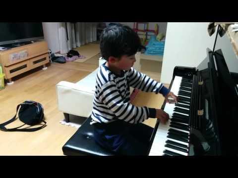 おふざけトルコ行進曲 モーツァルト 6歳 1年生 ピアノ 男子