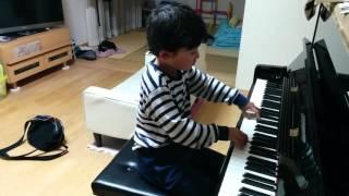おふざけトルコ行進曲 モーツァルト 6歳 1年生 ピアノ 男子 thumbnail