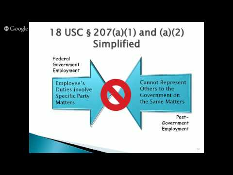 Post Government Employment Restrictions Massive Open Online Course (MOOC)