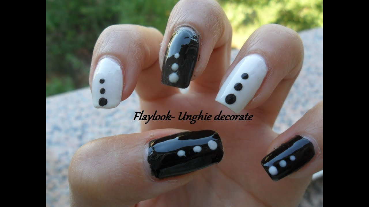Ben noto Video tutorial #33 nail art con smalto nero e bianco alternato- By  SY58