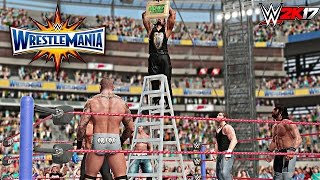WWE 2K17 - Money In The Bank Ladder Match Gameplay With Wrestlemania 33 DAYTIME ARENA (PS4/XBOX ONE)