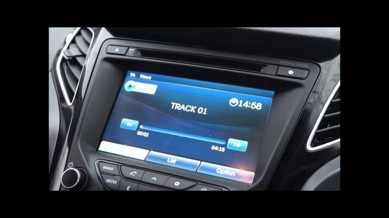 2013 Hyundai I40 Sat Nav System Youtube