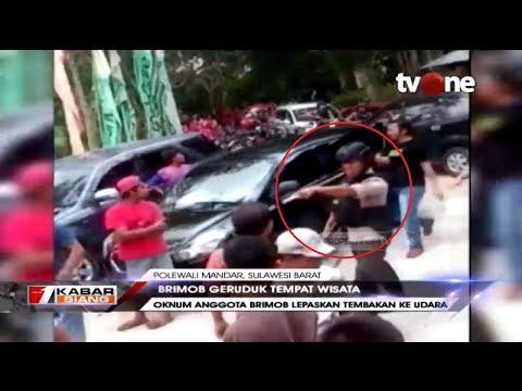 Belasan Anggota Brimob Geruduk Tempat Wisata di Polewali Mandar