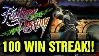 Fighters Destiny - Survival 100 Win Streak (Ninja) Unlock Joker Longplay Playtrough