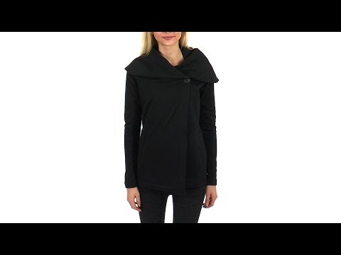 Beyond Yoga Shawl Collar Drape Front Jacket | SwimOutlet.com