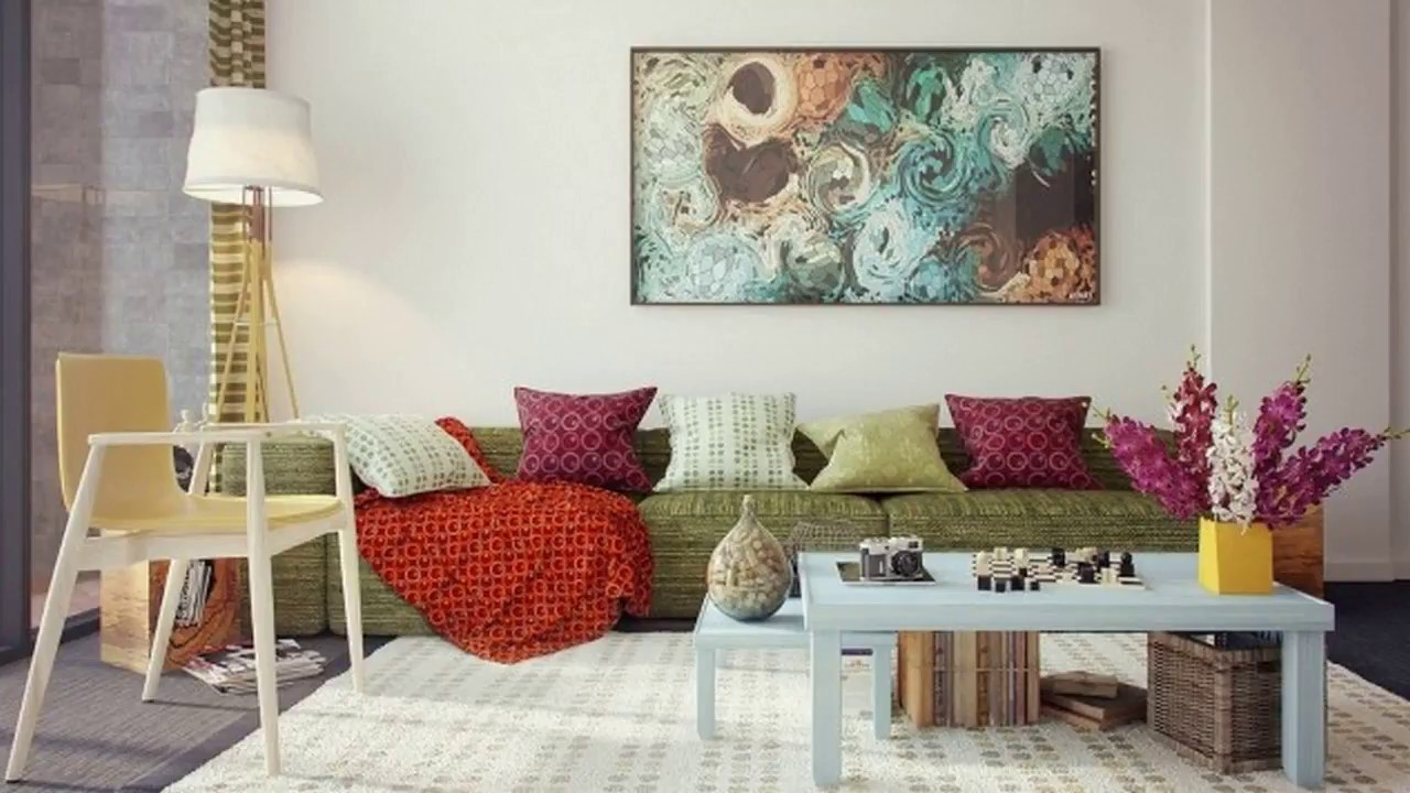 ideas for a bare living room wall inexpensive small concrete decoration diy painting bedroom 2018