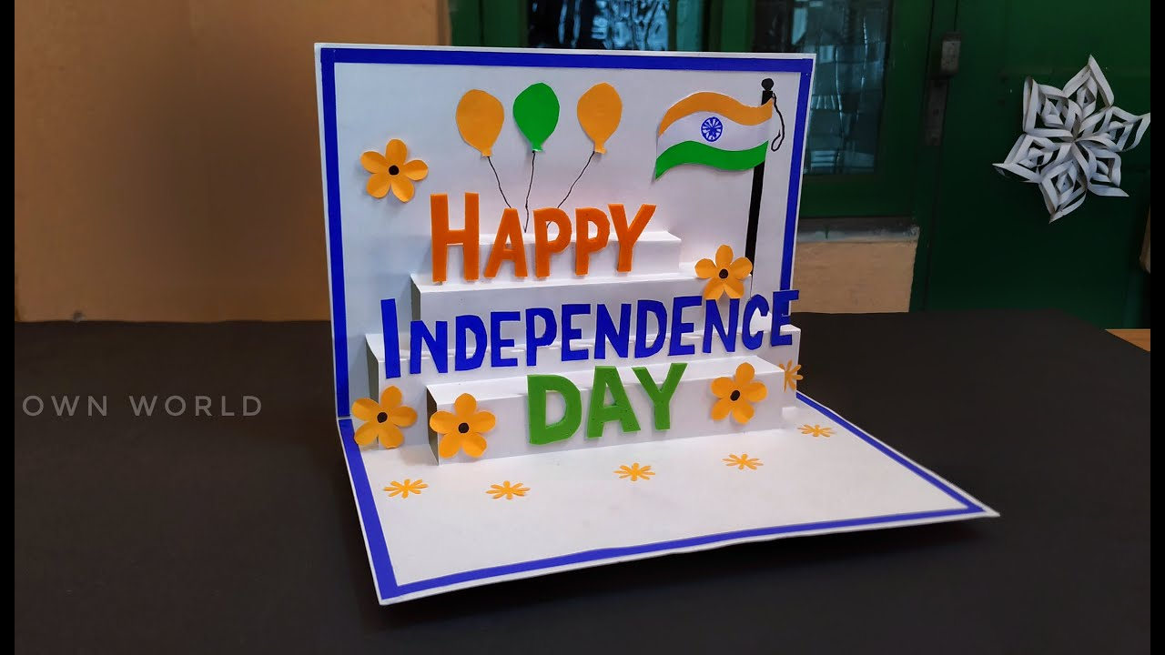 Independence day card making ideas / Independence day special greeting card