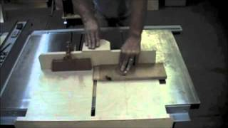 Woodworking - How To Cut Tenons On A Dado Cross Cut Sled - Easy Work Safe Methods