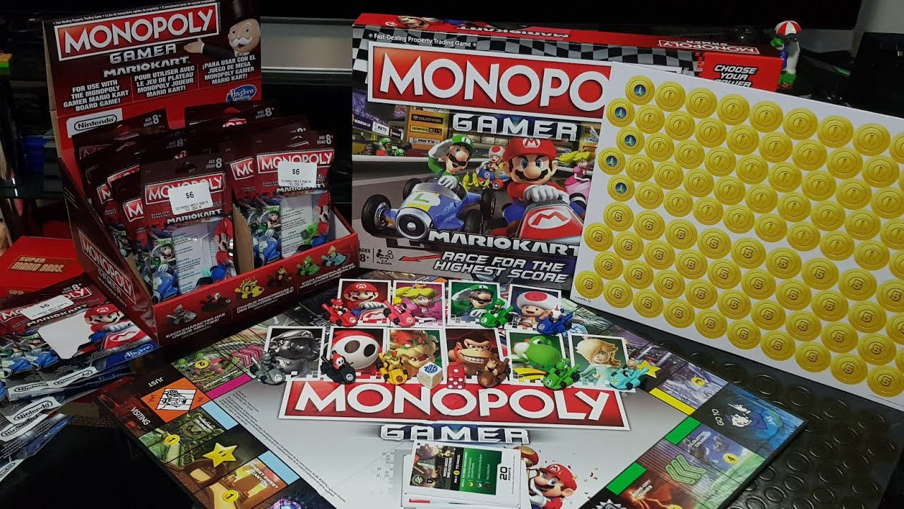 Unboxing Monopoly Gamer Mario Kart And Power Packs Youtube