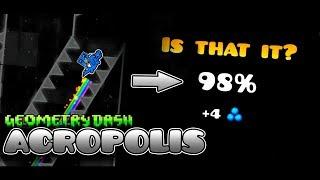 КАК Я УМЕР? САМАЯ ХУДШАЯ ПОДГОТОВКА К Extreme Demon ... Acropolis by Zobros | Geometry Dash 2.1