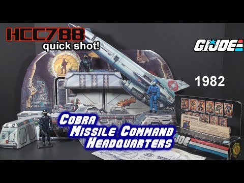 HCC788 quick shot! 1982 Cobra MISSILE COMMAND HEADQUARTERS - Sears Exclusive G.I. Joe toy!