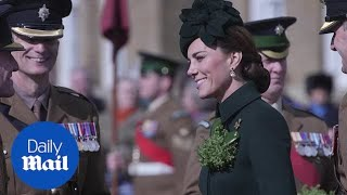 Duke and Duchess of Cambridge join St Patrick's Day parade at barracks