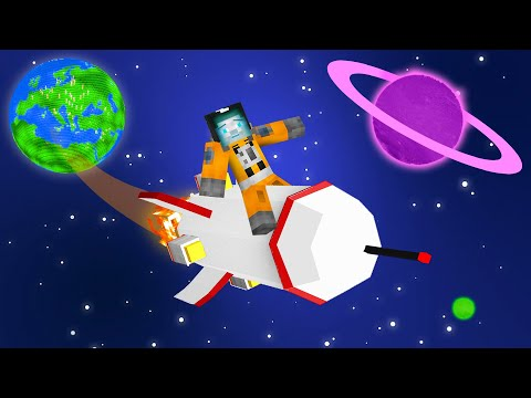 ROCKET Ship MOD To NEW Minecraft PLANETS!