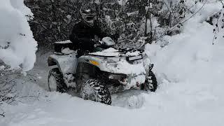 Am iesit cu ATV-ul in zapada de 50 cm !!!