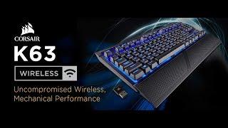Unboxing Teclado Mecânico Wireless/Bluetooth TKL Corsair K63 Wireless