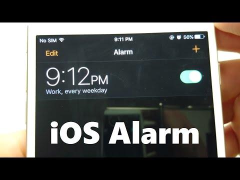 Iphone How To Set Alarm Ios